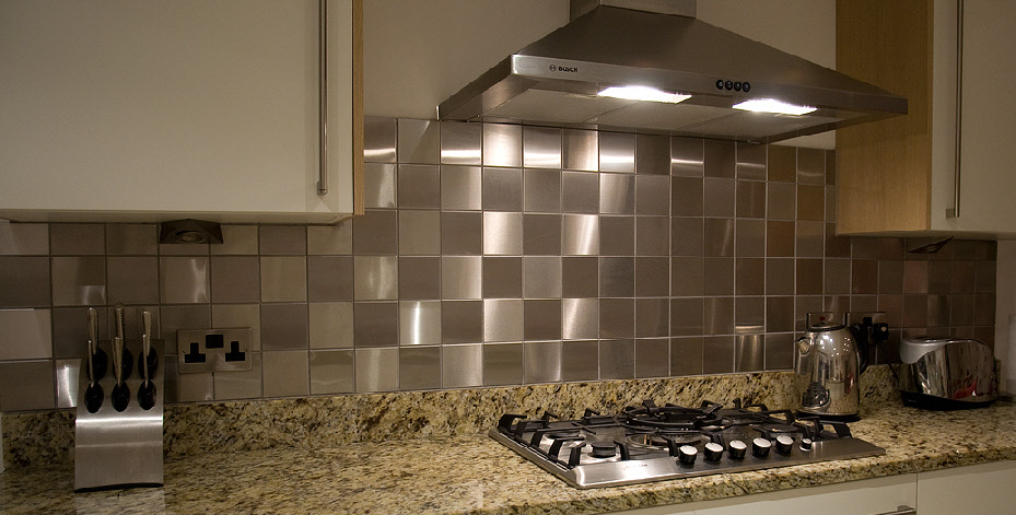 Pics Photos - Stainless Steel With Silver Glass Tile Emt 501 Mix Bm ...